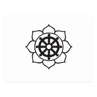 Dharma rullar lotusblomma vykort