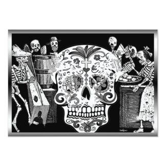 Día de Muertos/day of the dead 12,7 X 17,8 Cm Inbjudningskort