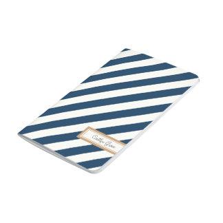 Diagonal randig marinjournal anteckningsböcker