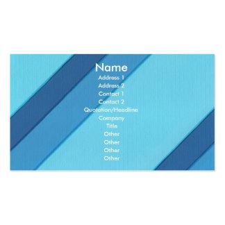 Diagonala randar för blått visitkortar