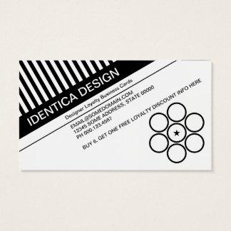 diagonalen förblindar lojalitetstansmaskin visitkort