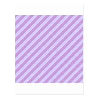 Diagonalen görar randig wisteria- och bleklavendel vykort
