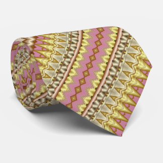 Diagonalt Fractalmönster för Mauve, för guld och Slips