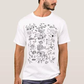 Diagram för delar för Chrysler korseld sprängt Tee Shirt