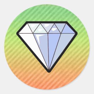 Diamant Runda Klistermärken