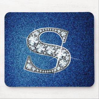 """""""Diamant Bling"""" på Denim Mousepad Musmatta"""