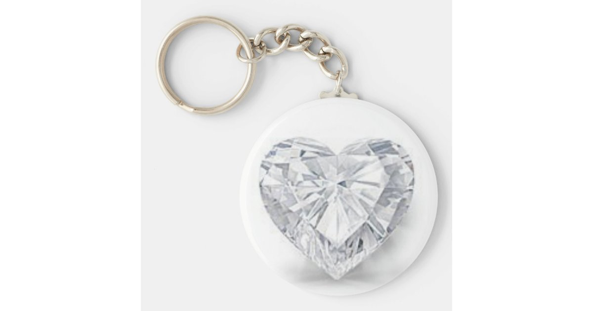 Diamant   kärlek rund nyckelring  8198712c11489