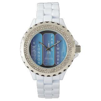 "Diamant ""Look"" New York, London, Paris damer Armbandsur"