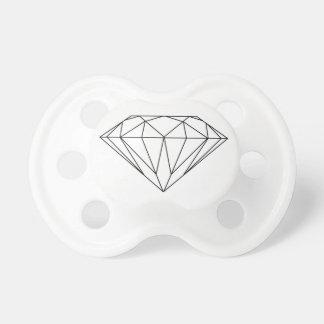 Diamant som drar svartvitt modernt napp