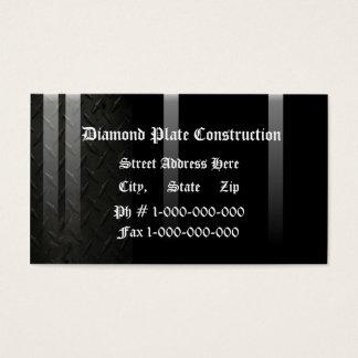 Diamanten pläterar design visitkort