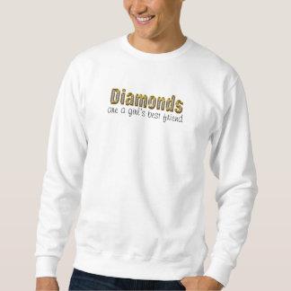 diamanter är en flickabästa vän sweatshirt