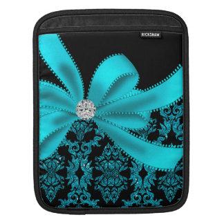 Diamanter & damast (krickan) sleeve för iPads
