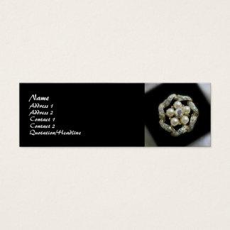 Diamanter och pärlor litet visitkort