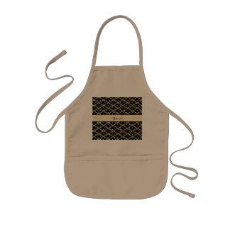 Diamanter & polka dots för Faux guld- Barnförkläde