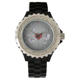 Diamanthjärtor - klocka