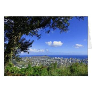 Diamanthuvud och Waikiki Hälsningskort