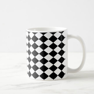 DIAMANTMÖNSTER i SVART ~ Kaffemugg