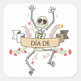 Diameter DE Festival av deadna Fyrkantigt Klistermärke