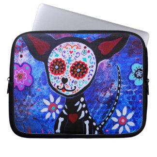 Diameter de los Muertos Chihuahua Laptop Sleeve