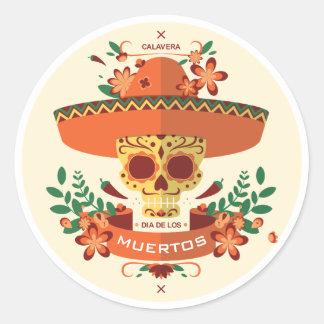 Diameter De Los Muertos. Day of the dead. Runt Klistermärke