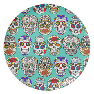 Diameter de los Muertos (day of the dead) Tallrik