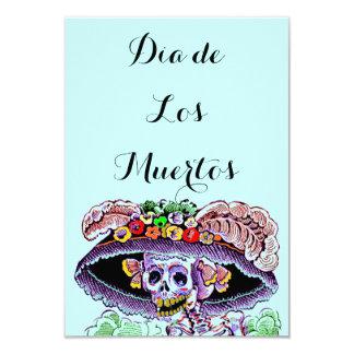 Diameter de Los Muertos day of the deadCatrina 8,9 X 12,7 Cm Inbjudningskort