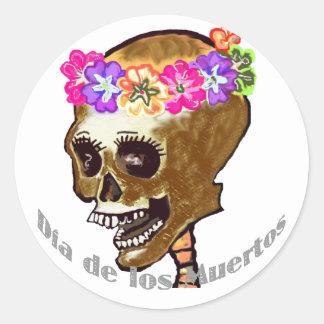 Diameter de Los Muertos eller Halloween Runt Klistermärke