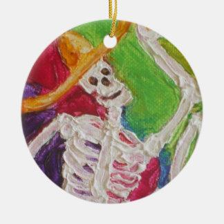 Diameter De Los Muertos Skelett Halloween prydnad Julgransprydnad Keramik