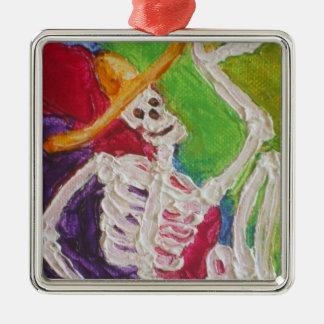 Diameter De Los Muertos Skelett Halloween prydnad Julgransprydnad Metall