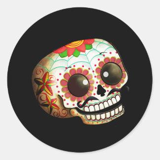 Diameter de Los Muertos Sockra skallekonst Runt Klistermärke
