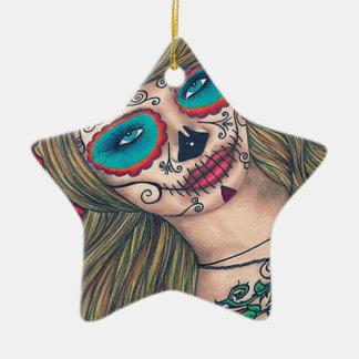 Diameter De Los Muertos Stjärna prydnad Julgransprydnad Keramik