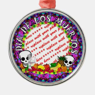 Diameter De Los Muertos Vild färgar fotoramen Julgransprydnad Metall
