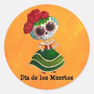 Diameter de Muertos Mexikan Fröcken död Runt Klistermärke