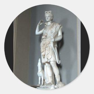 Diana (Artemis) staty i Vaticanen i Rome Runt Klistermärke