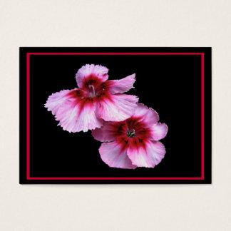 Dianthusen blomstrar ATC Visitkort