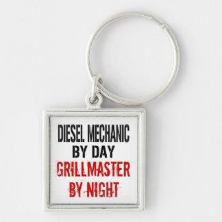 Diesel- mekaniker Grillmaster Fyrkantig Silverfärgad Nyckelring