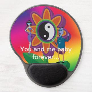 Dig och mig babyför evigtblomma Gel Mousepad Gelé Musmatta