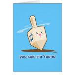 Dig snurrande mig 'runda hälsnings kort