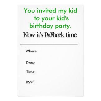 Dig som är inbjuden min unge till din barnfödelsed