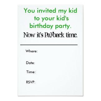 Dig som är inbjuden min unge till din 12,7 x 17,8 cm inbjudningskort