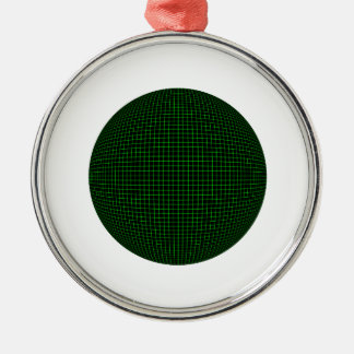 Digital boll rund silverfärgad julgransprydnad
