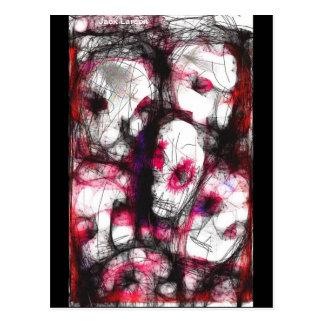 Digital Fingerpainting av zombies silar larson… Vykort