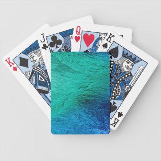 Digital för havhavsvatten som konst leker kort spelkort