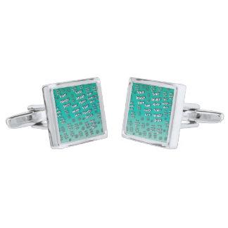 Digital fotomall silverpläterade manschetterknappar