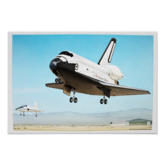 Digital illustration av rymdfärjan poster