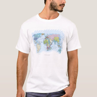 Digital illustration av världen i 1900 tshirts
