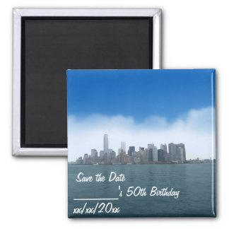 Digital klar himmel i NYC-spara datum magneter