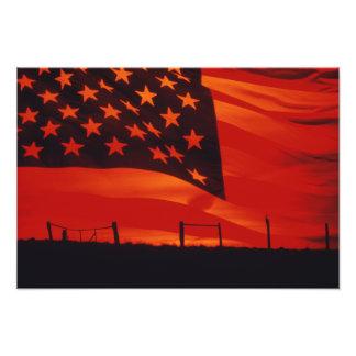 Digital komposit av amerikanska flaggan fototryck