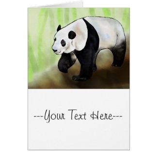Digital målning - Panda Hälsningskort