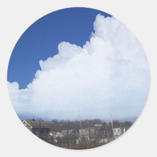 Digital moln 1/6/13 runt klistermärke